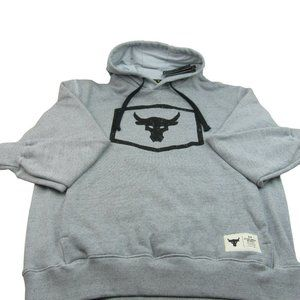 Under Armour UA Project Rock Pullover Hoodie Mens Size XL Grey
